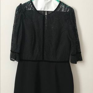 Black cocktail dress, 3/4 sleeves (L) Adelyn Rae